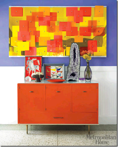 Meyer orange sideboard