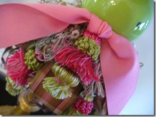 angela pink n green tassel