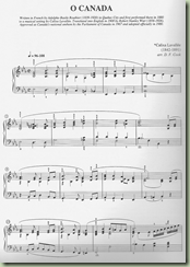 o canada music sheet