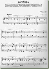 o canada music sheet