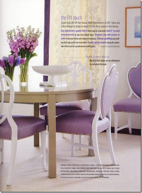 lavender ostrich chairs