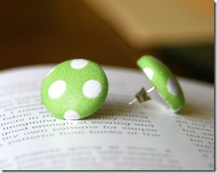 green polka dot earrings kbowling i do inspirations