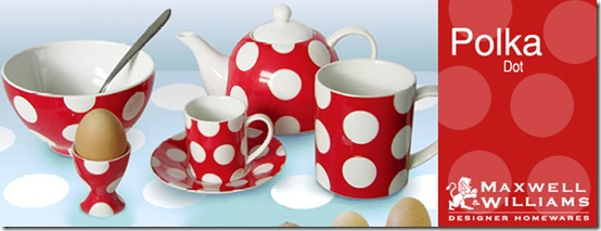 polkadot tableware white-porcelain