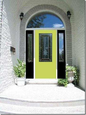 green black door