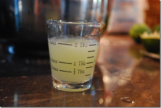 21 lime juice measured