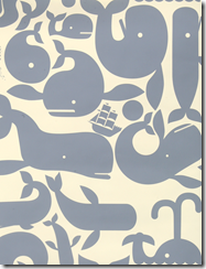 whale wallpaper pottok prints grey