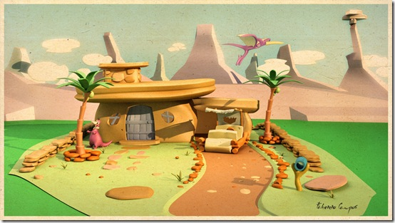 The_Flintstones_House_by_fabriciocampos deviant art