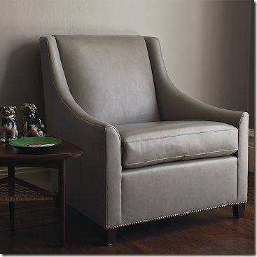 sweep arm leather chair west elm