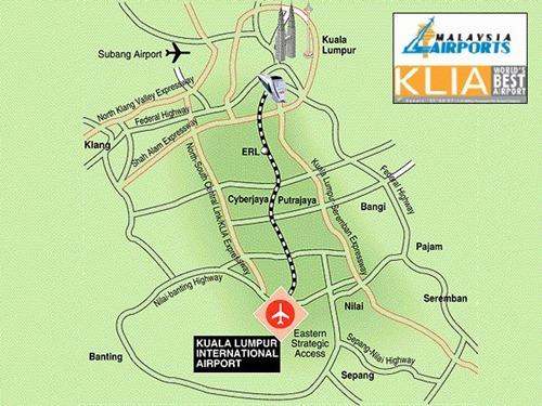 خريطة مطار ماليزيا