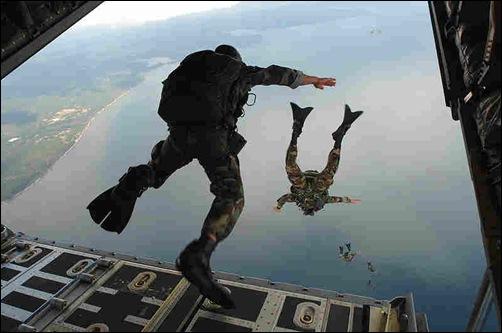 القفز من الاعلي