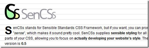 SenCSs stands for Sensible Standards CSS Framework | css-framework-7
