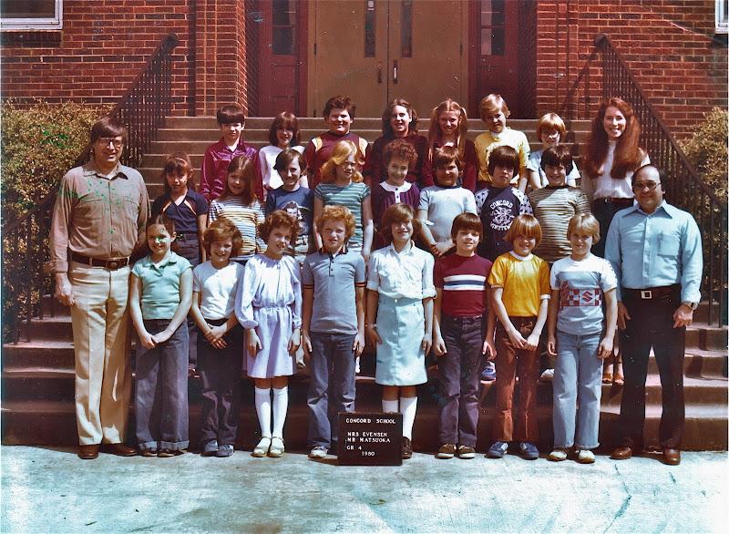Concord Elementary School; Mrs. Evensen/Mr. Matsuoka, Grade 4, 1980
