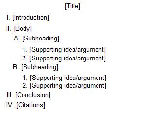 Rogerian Argument Essay Outline Example
