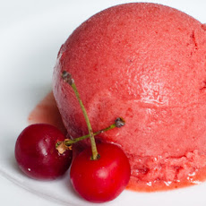 Sour Cherry and Lavender Sorbet