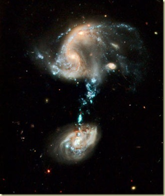 image of fountain of life trio of galaxies, called Arp 194