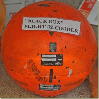image of orange spherical black box flight data recorder (red egg design)