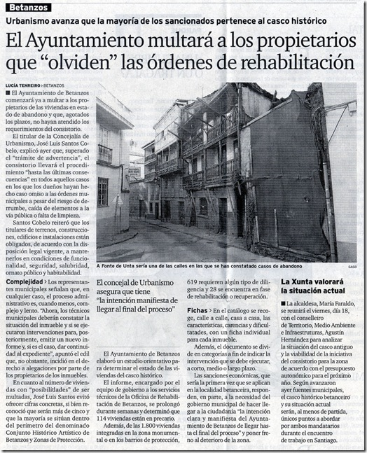 """Recorte do xornal """"El Ideal Gallego"""" correspondente ao mércores 16 de decembro de 2009"""