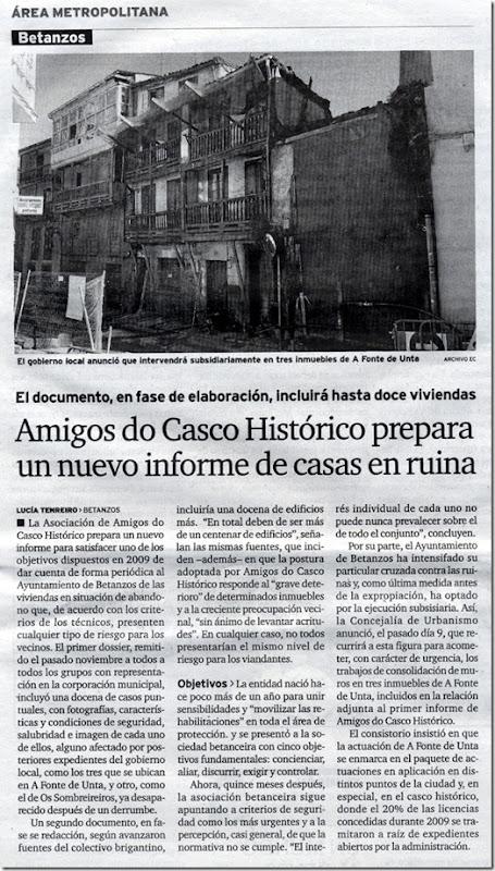 """Recorte do xornal """"El Ideal Gallego"""" correspondente ao martes 22 de xuño de 2010"""