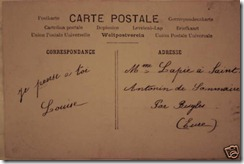 Antique french postcard back
