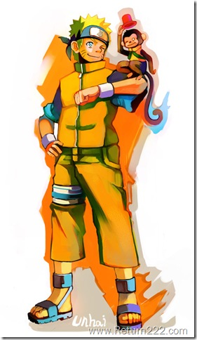 Naruto_and_Monkey_by_unhai