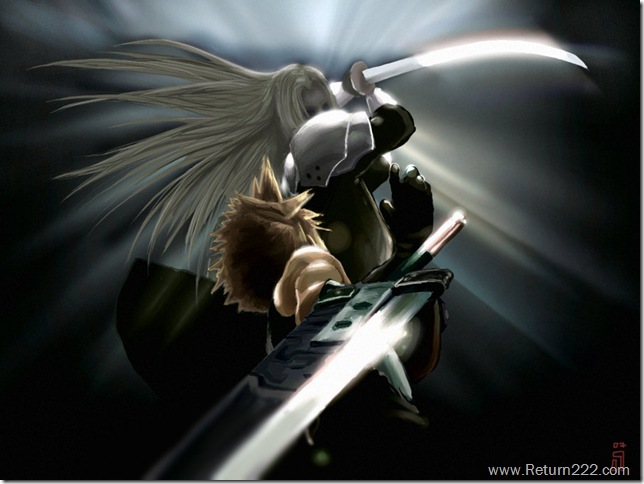 FFVII_AC__Cloud_VS_SEPHIROTH_by_Shld