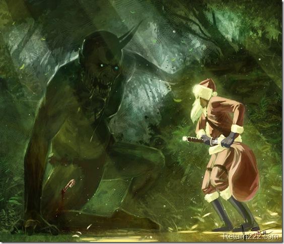 zombie_ogre_vs_santa_by_jameswolf