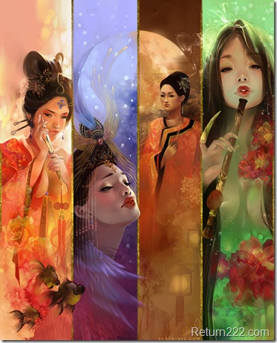 The_Four_Beauties_by_luciole