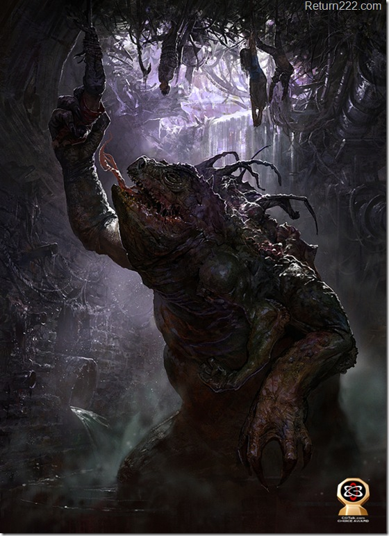 Swamp_dwelling_monster_by_Pervandr