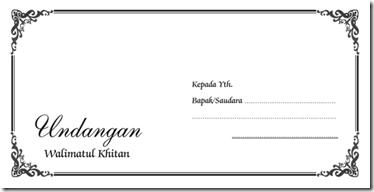 Template Undangan Selapanan MSWord Template Walimatul Khitan 2009 ...