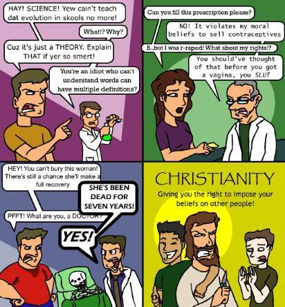 Christianity imposes its supertitious belief upon others