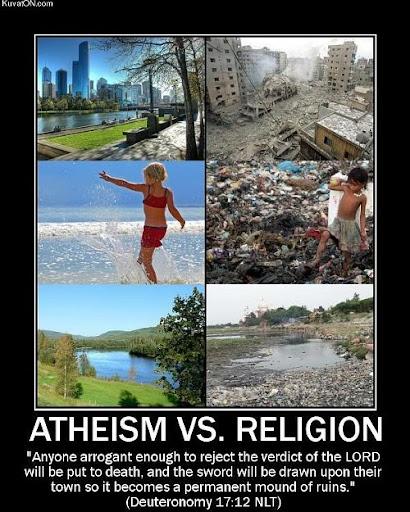 Religion brings destruction and war