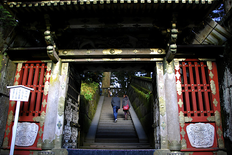 Through this gate leads to Okusha treasure tower