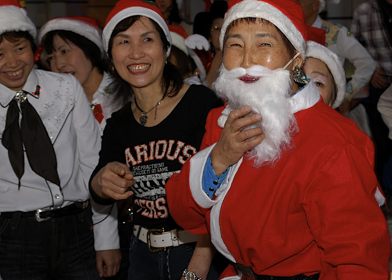 This woman made a very good Santa
