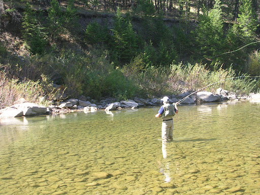 Fishing on the Gros Ventre River