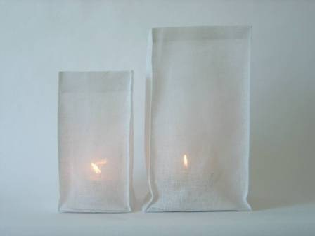 gauze lanterns simplemente blanco gauze lanterns Beach House Living