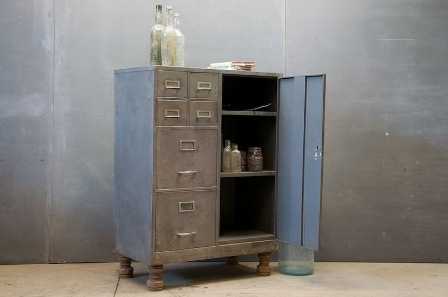 Modern 50 1495_metal Industrial Cabinet Comparments2 Vintage Cabinet Modern  50