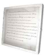 Whitewashed shawdow box frame