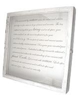 Whitewashed shawdow box frame