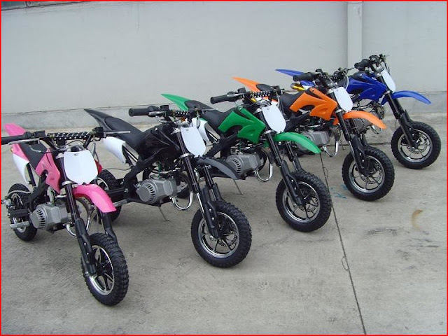 49cc Mini Kids Dirt Bike -Pink Black Green Orange Blue