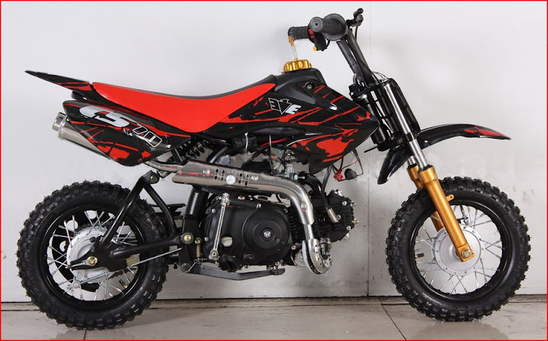 70cc Moto21 CS Semi Auto Dirt Bike-Black