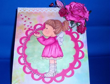 Magnolia Valentine's Easel Card_Closer View