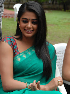 Priyamani in Green Designer Transparent Saree Spicy Pictures