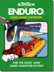 Capa de Enduro para Atari 2600
