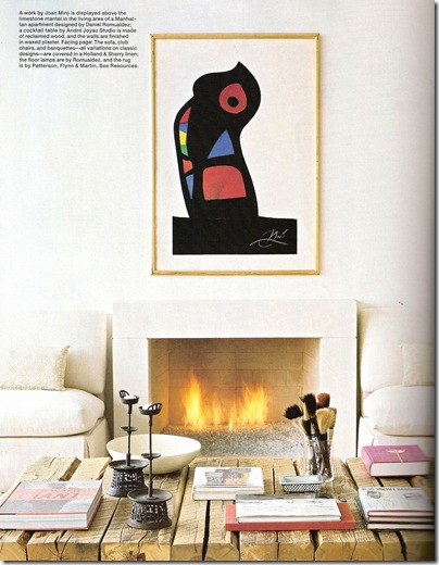 Elle Decor Daniel Romualdez fireplace