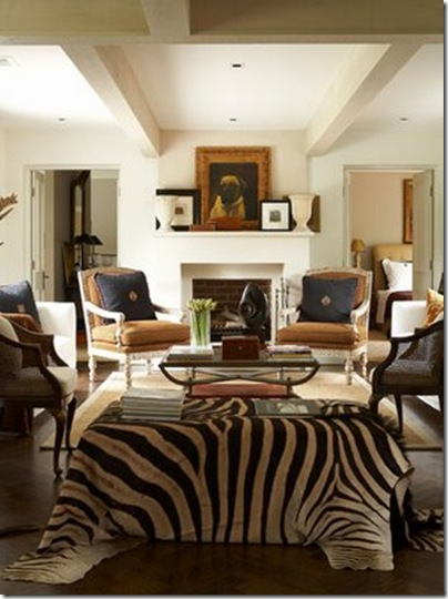 vt interios library zebra living room