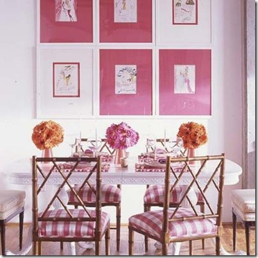 pink dining room via compulsively compiled