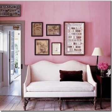 the laurel hedge pink settee