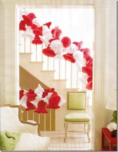 House Beautiful red and white paper garland