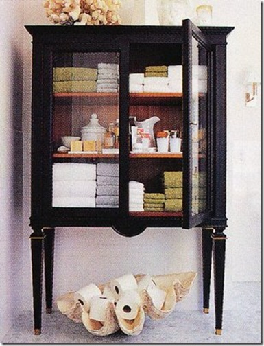 brabourne farm black towel cupboard