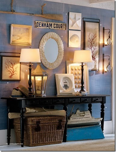 pottery barn blue wall